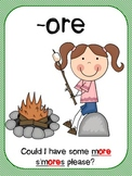 Camping Word Work Activities: or and ore words