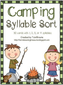Camping Words Syllable Sort