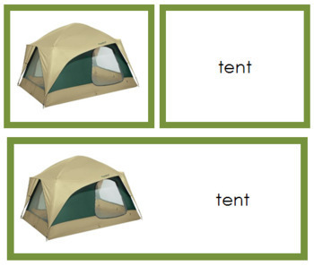 Camping: Words and Picture Cards