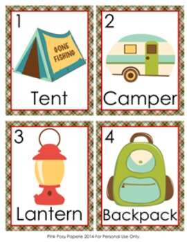 Camping Write the Room Activity