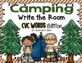 Camping Write the Room - CVC Words Edition