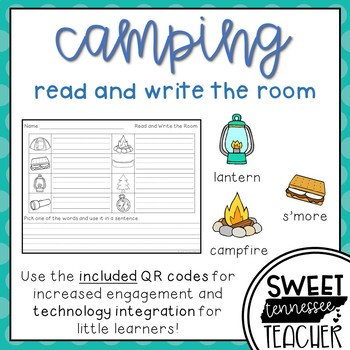 Camping Write the Room (QR codes included)
