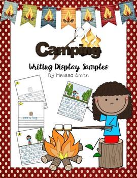 Camping Writing Display Samples