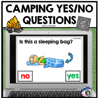 Camping YES - NO Questions Task Cards - Play on Internet or Print