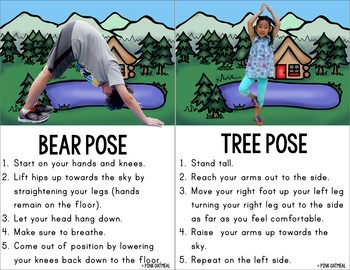 camping yoga  kidspink oatmeal movement for the