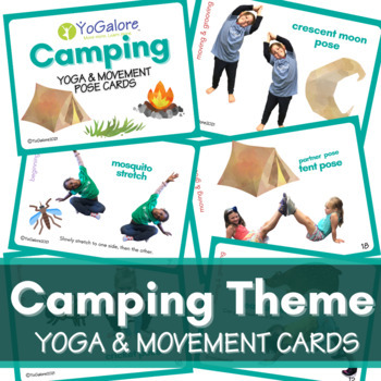 Camping Theme: Yoga & Movement Pose Cards
