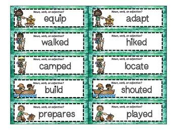 Camping ZAP! Nouns, Verbs, Adjectives