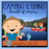 Camping and Fishing Centers: A BIG BUNDLE of Math and Literacy Centers