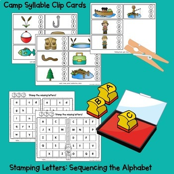 Camping and Fishing Centers and Activities BUNDLE