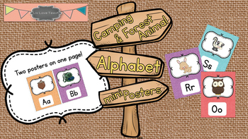 Camping and Forest Animal Mini Alphabet Posters