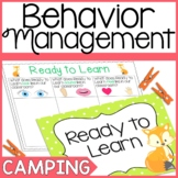 Behavior Chart- Camping and Forest Theme