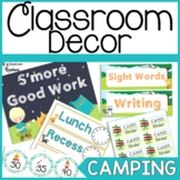 Camping Themed Classroom Decor and Organization