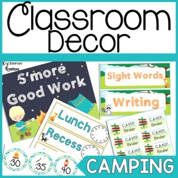 Camping and Forest Themed Classroom Decor and Organization