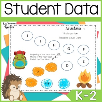 Camping and Forest Themed Student Data Binders