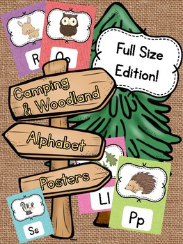 Camping and Woodland Alphabet Posters FULL SIZE