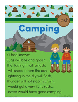 Camping - ash Word Family Poem of the Week