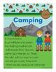 Camping - ash Word Family Poem of the Week - Short Vowel A Fluency Poem