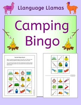 Camping Bingo For Summer Class Topic Or ESL EAL EFL MFL