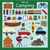 Camping clip art, vacation