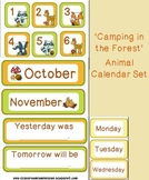 Camping in the Forest Animals Calendar Set