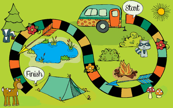 Camping in the Forest Game Board for General Use