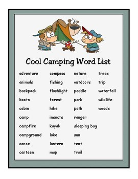 Camping is Cool! Activity Packet