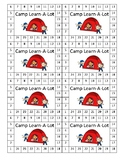 Camping theme Punch Card
