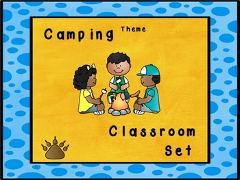 Camping theme desk name tags