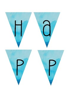 "Camping theme- ""happy campers"" banner"