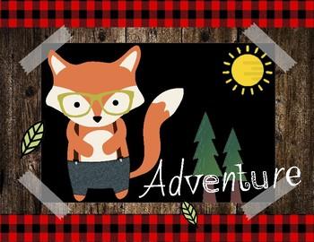 Camping theme table names/ Spanish & English