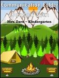 Camping themed Communication Nicky's Folder inserts