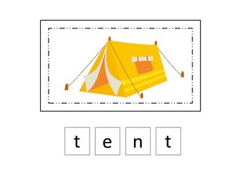 Camping themed Match the Letters two page preschool activity.  Daycare.