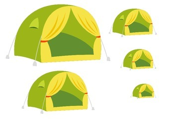 Camping themed Size Sequence activity.  Preschool learning