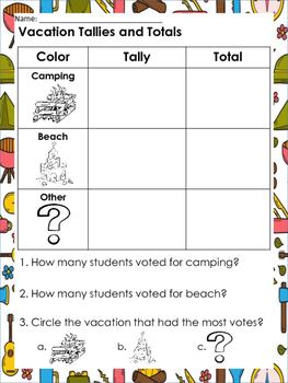 Camping themed Writing Prompts and Worksheets