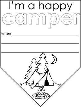 Camping themed Happy Camper classroom banner
