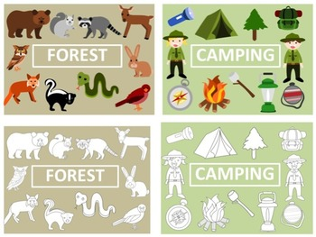 Camping/Forest Clip Art Bundle