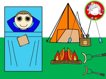 Camping Kid Clipart (Personal & Commercial Use)