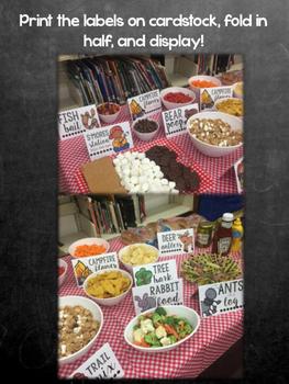 Campout Snack Labels