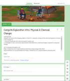 Campsite Exploration: Physical & Chemical Changes (Auto graded form w/ feedback)