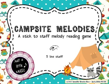 Campsite Melodies - A stick to staff  game practicing la on  5 line staff
