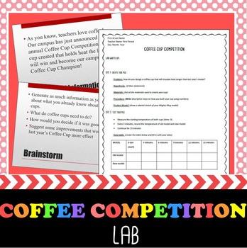 Scientific Method Lab- Campus Coffee Cup Competition