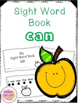 Can - Apple Sight Word Book