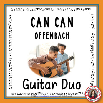 'Can-Can' instrumental. Arr. for easy guitar duo
