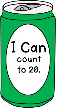 """Can Clip Art-- Blank Can, Can with """"I Can"""" Statements, Pre-K Mastery"""