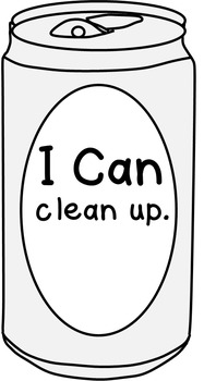 "Can Clip Art-- Blank Can, Can with ""I Can"" Statements, Pre-K Mastery"