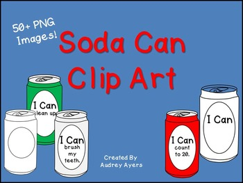 """Can Clip Art-- Blank Can, Can with """"I Can"""" Statements, Pre"""