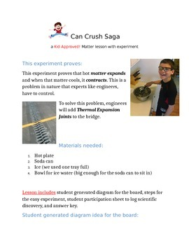 Can Crush Saga: A Matter Lesson and Experiment