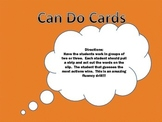 Can Do Cards- Fluency Game