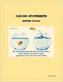 Can-Do Statements: Beginner Italian