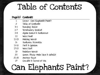 Can Elephants Paint?  1st Grade Harcourt Storytown Lesson 17